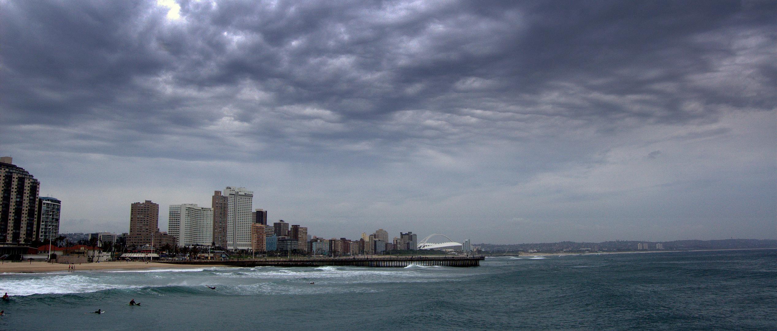 Die Stadt Durban in Südafrika