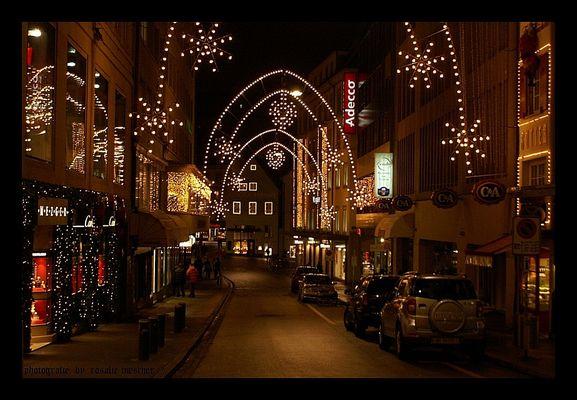 die stadt ist auf weihnachten....