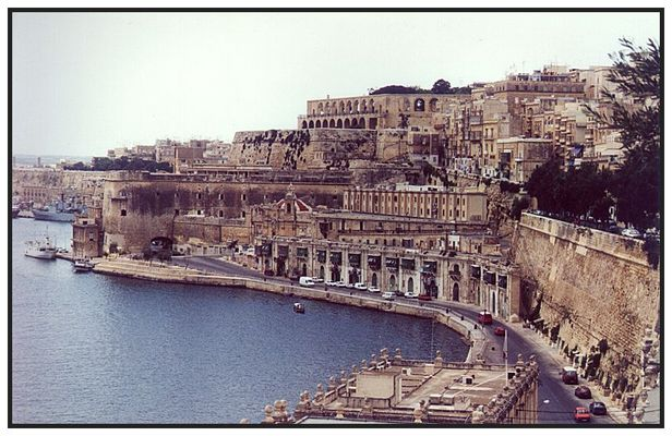 Die Stadtmauern von Valetta (Malta)