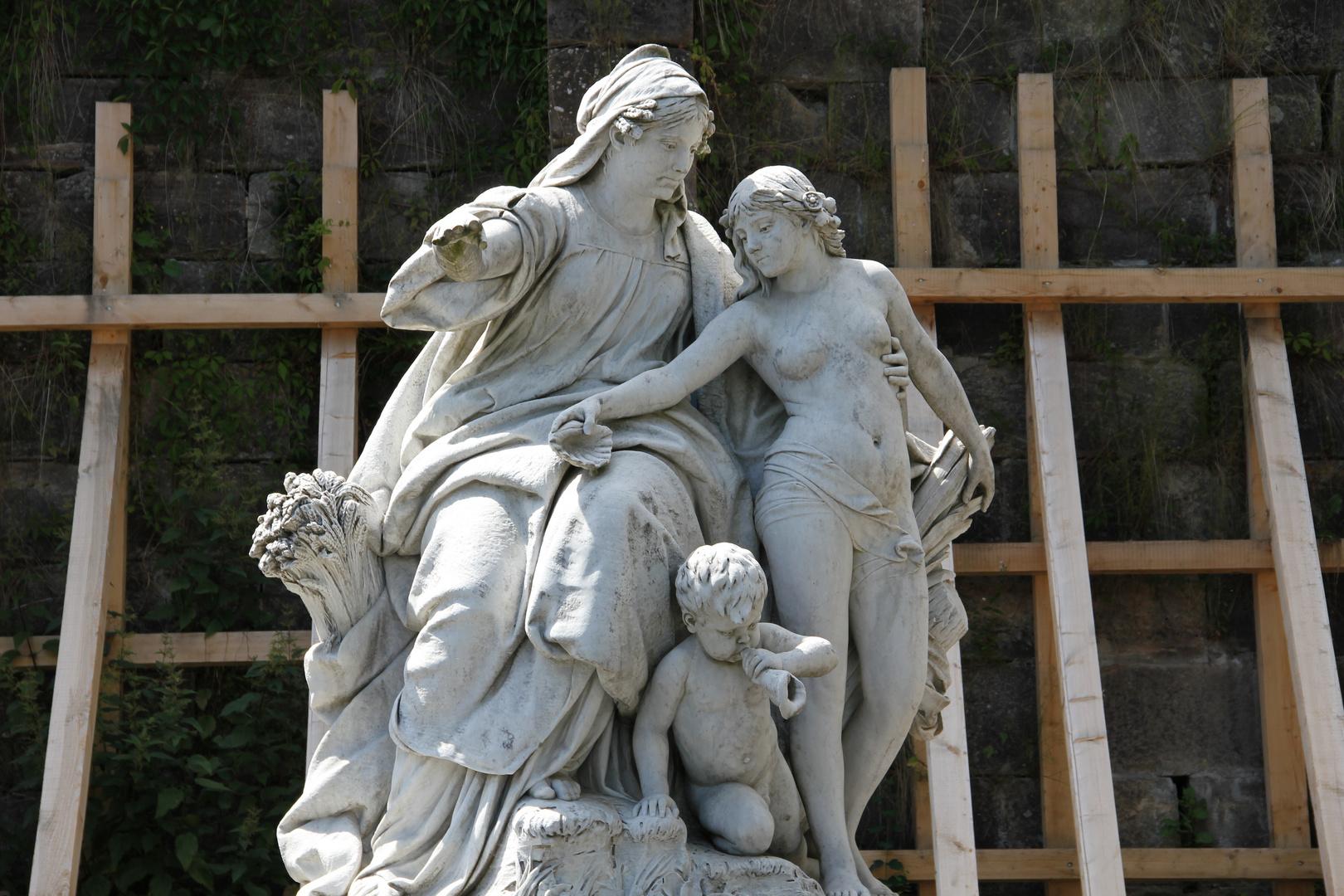 Die Statue der Donauquelle in Donaueschingen