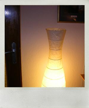 Die Stehlampe in meinem Wohnzimmer