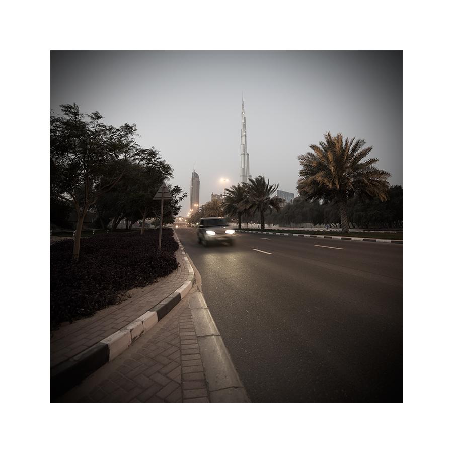 Die Strasse zum Burj Khalifa