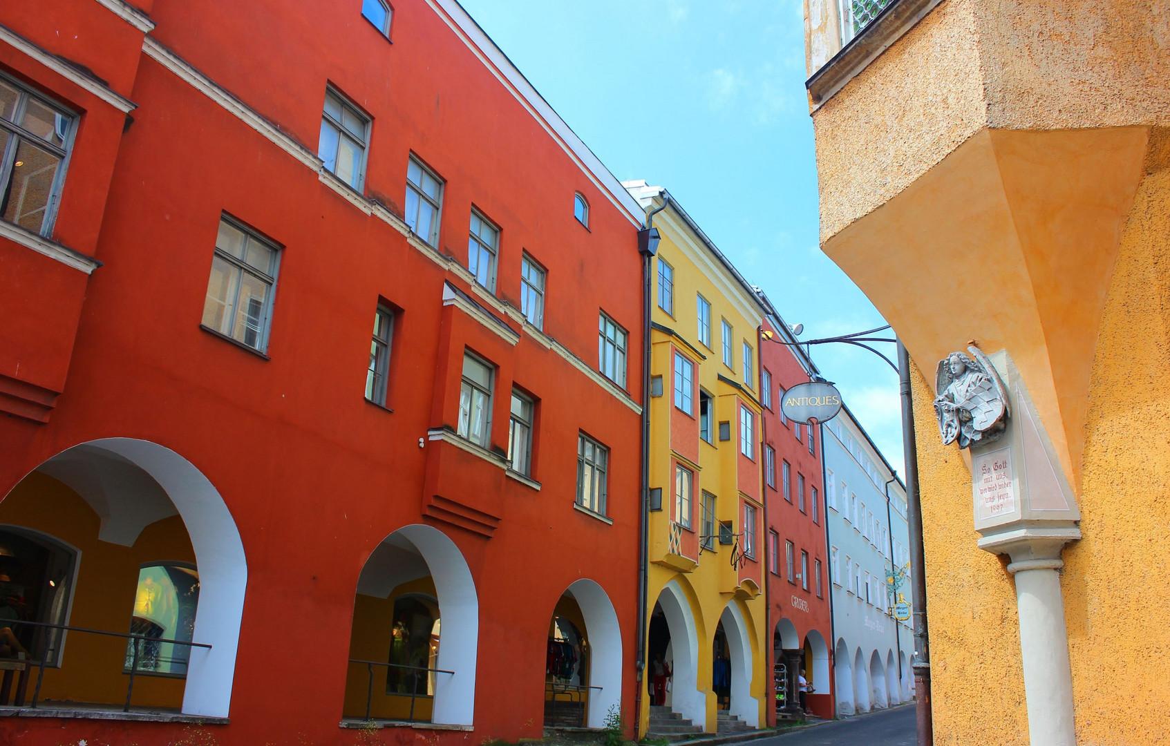 Die Straßen in Wasserburg am Inn