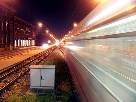 Die Strassenbahn bei Nacht