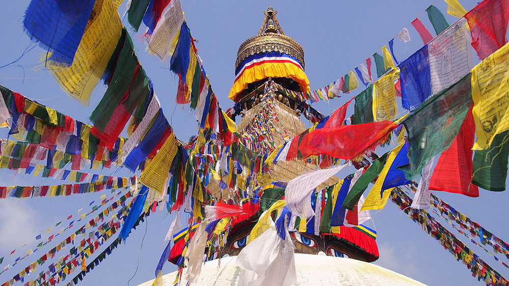 Die Stupa von Bodnath