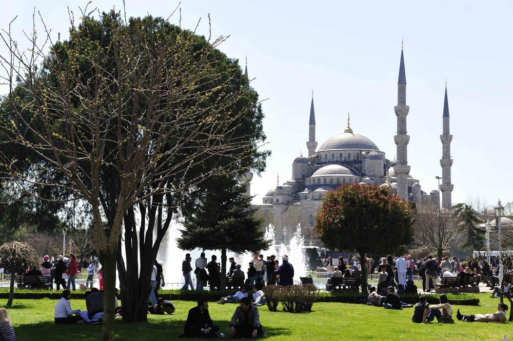Die Sultan Ahmed Moschee ist auch als Blaue Moschee geläufig
