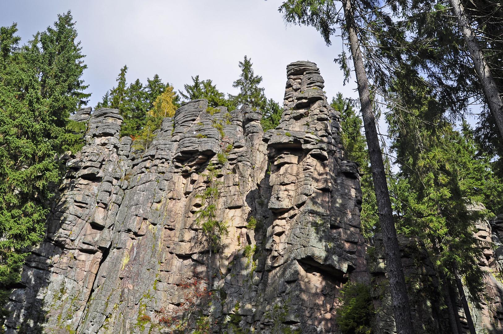Die Teufelssteine im Steinbachtal zwischen Johanngeorgenstadt und Erlabrunn