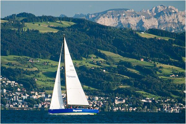 Die Tognum-Yacht gesehen von der Malerecke