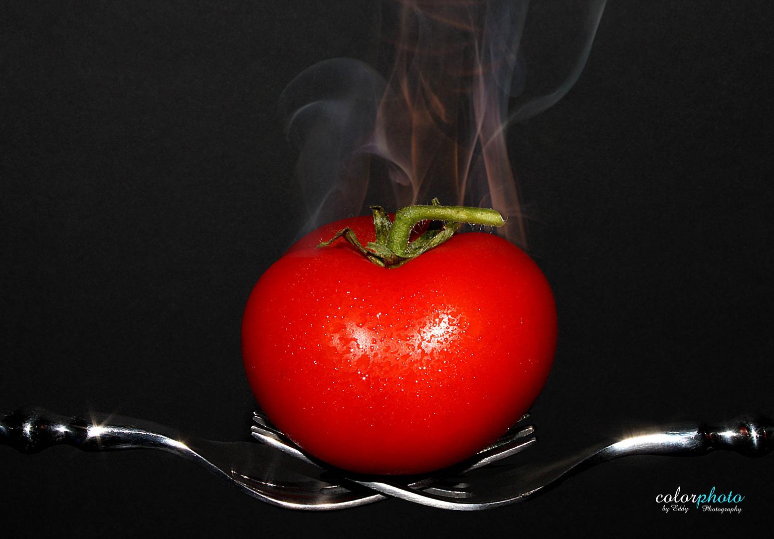 .... die Tomate ist fertig.