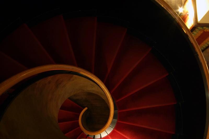 Die Treppe beim Restaurant L'Escale