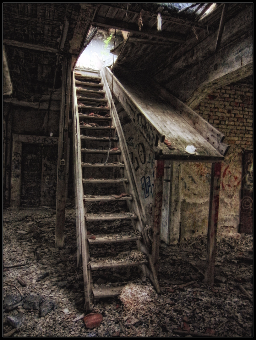 Die Treppe, die zur Freiheit des Himmels führte