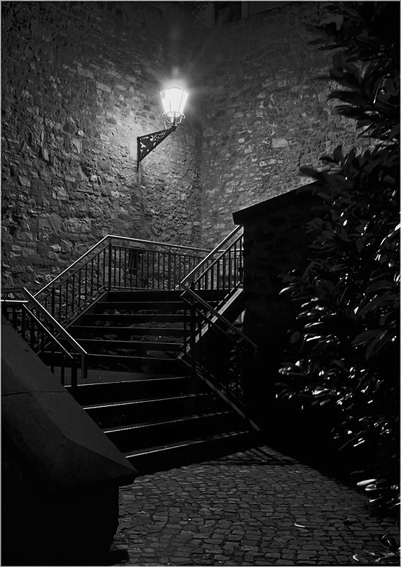 Die Treppe hinauf ...