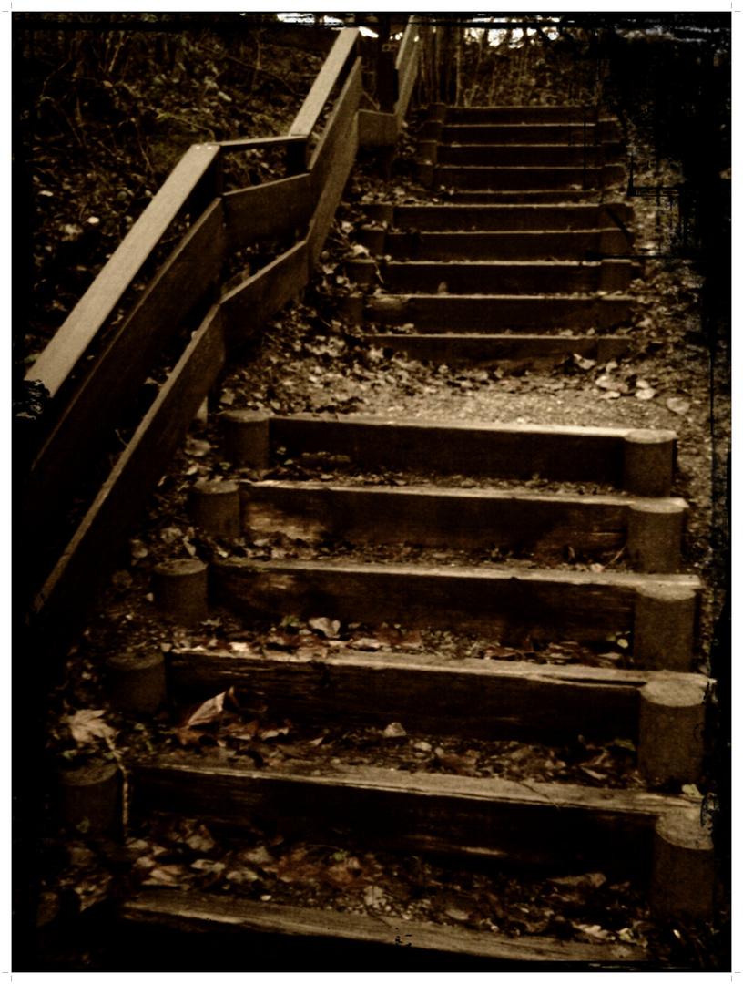 Die Treppe hinauf