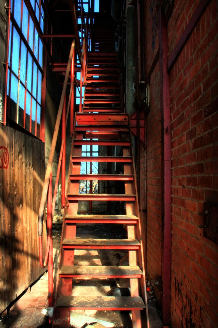 die Treppe ins Ungewisse...
