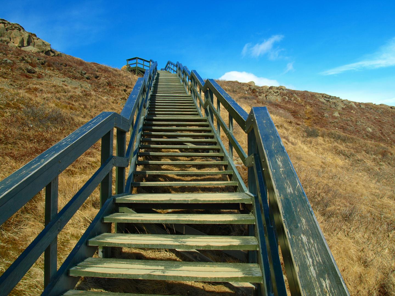 Die Treppe nach oben...