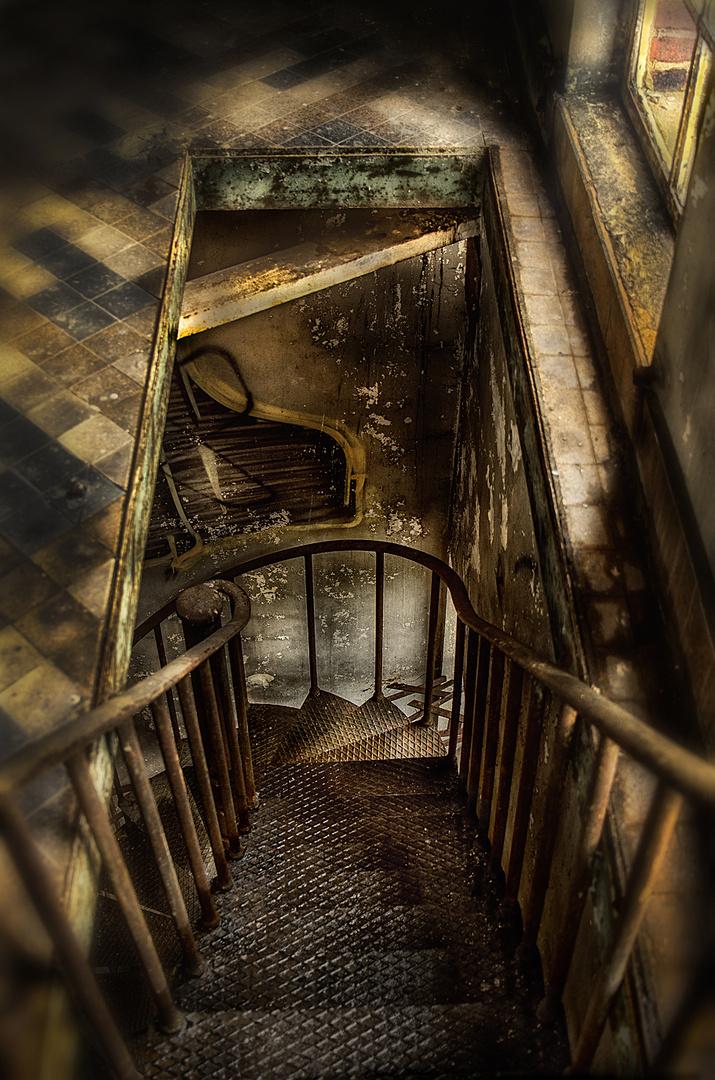 die Treppe... Schalthaus Gelsenkircehn