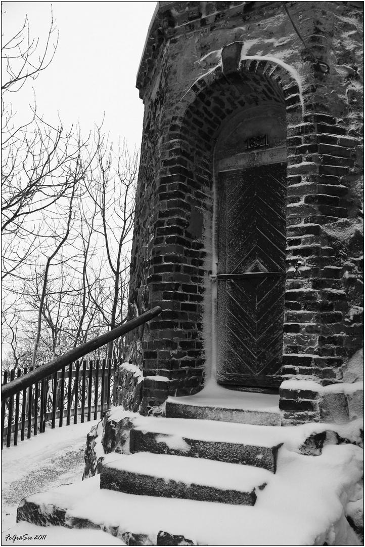 Die Treppe zum Turm ...