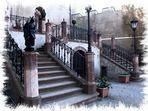 Die Treppen von Schloss Wolkenburg