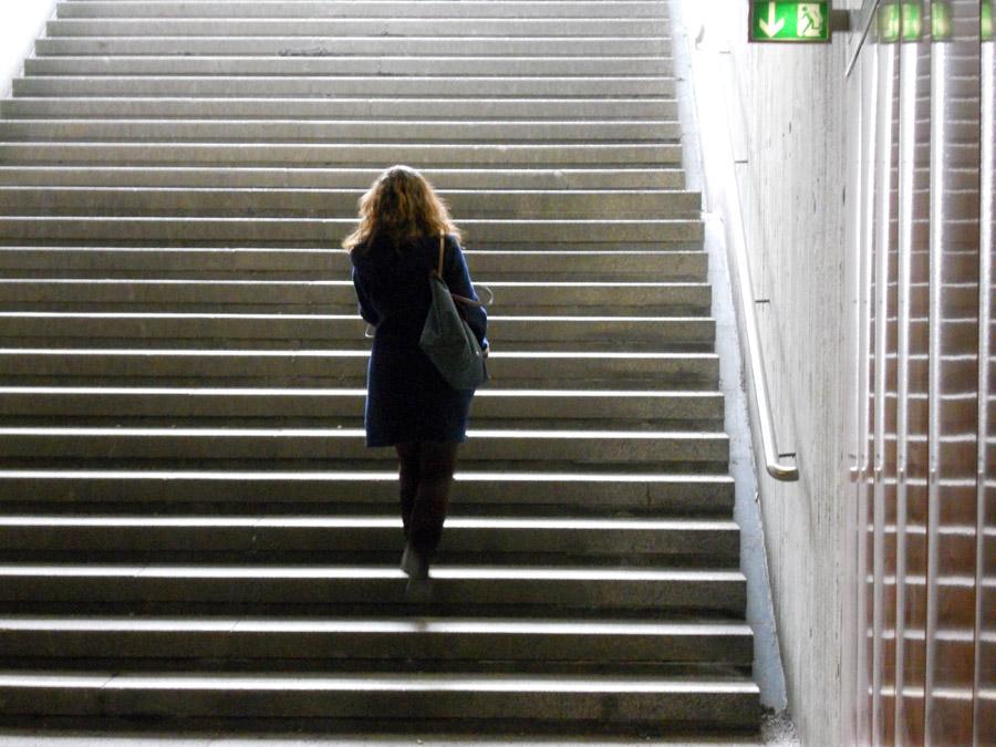 Die Treppensteigerin