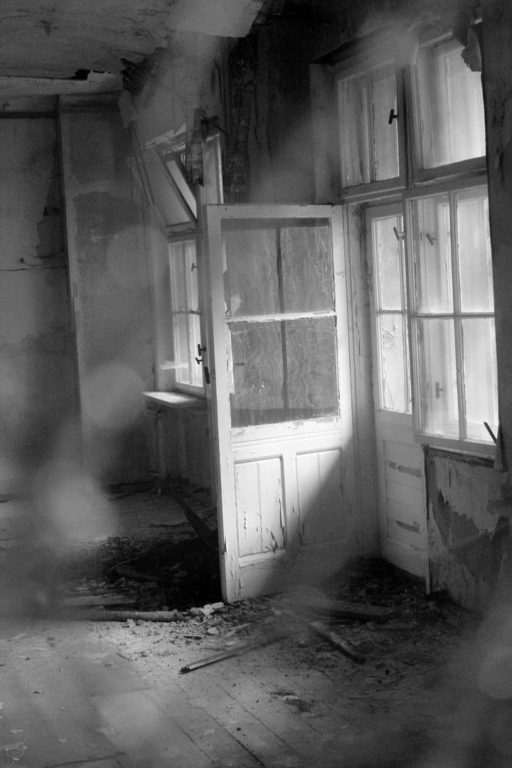 Die Tür zum Balkon