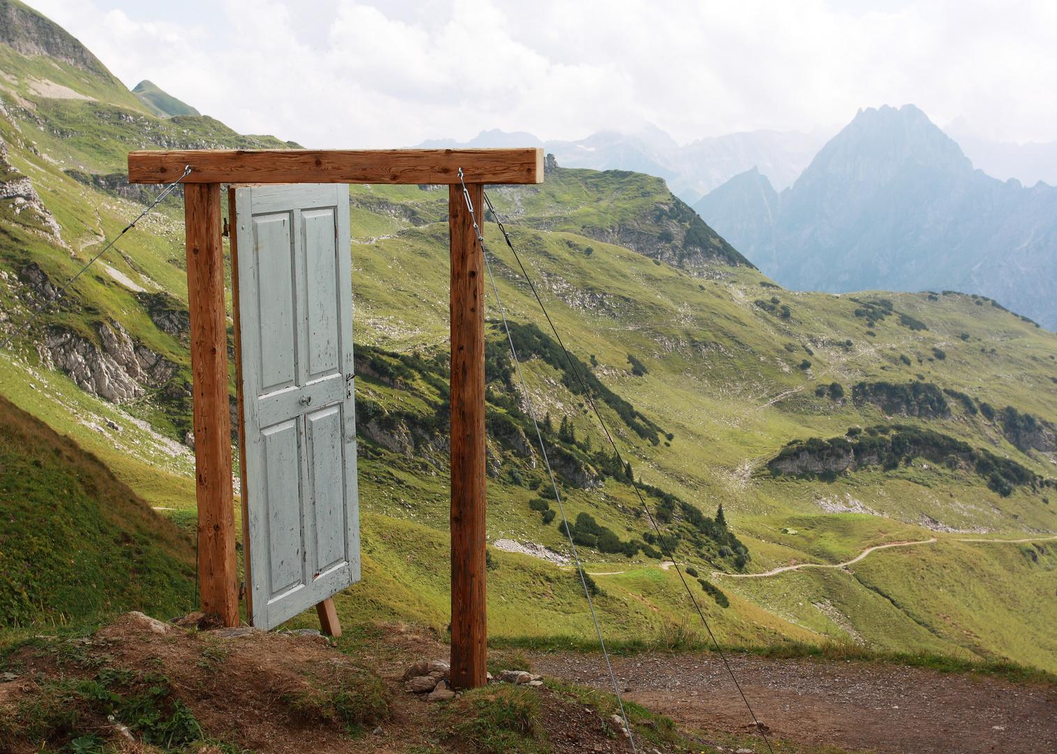 Die Türe zur Bergwelt