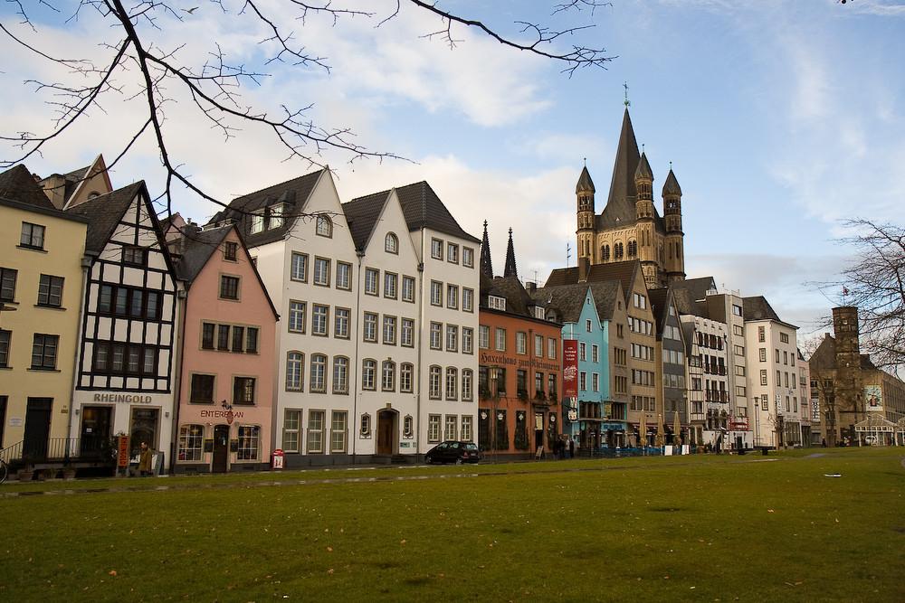 Die Ufer von Köln