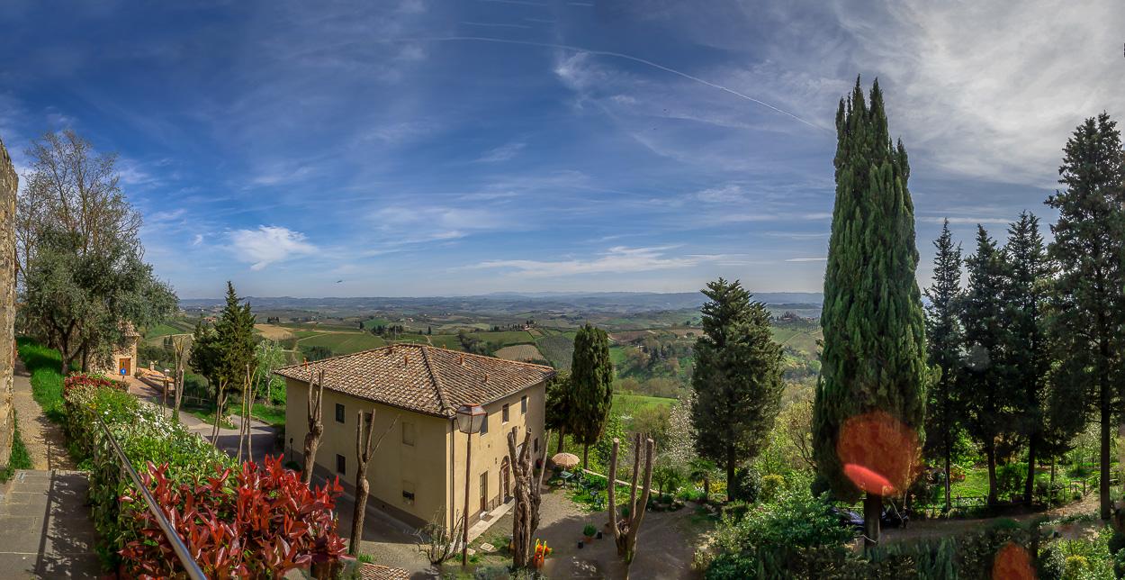Die Umgebung von San Gimignano