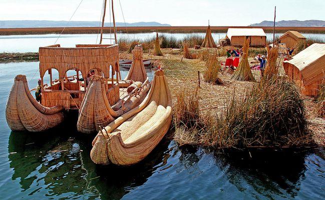 Die Uros vom Titicacasee