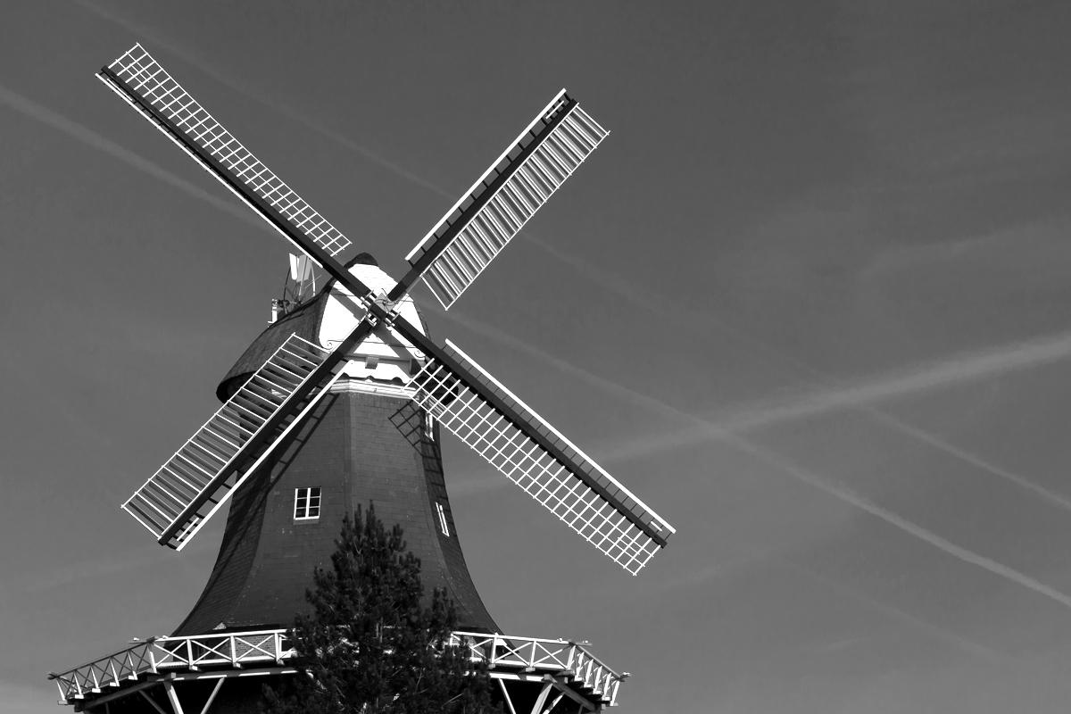 Die Vareler Mühle in S/W