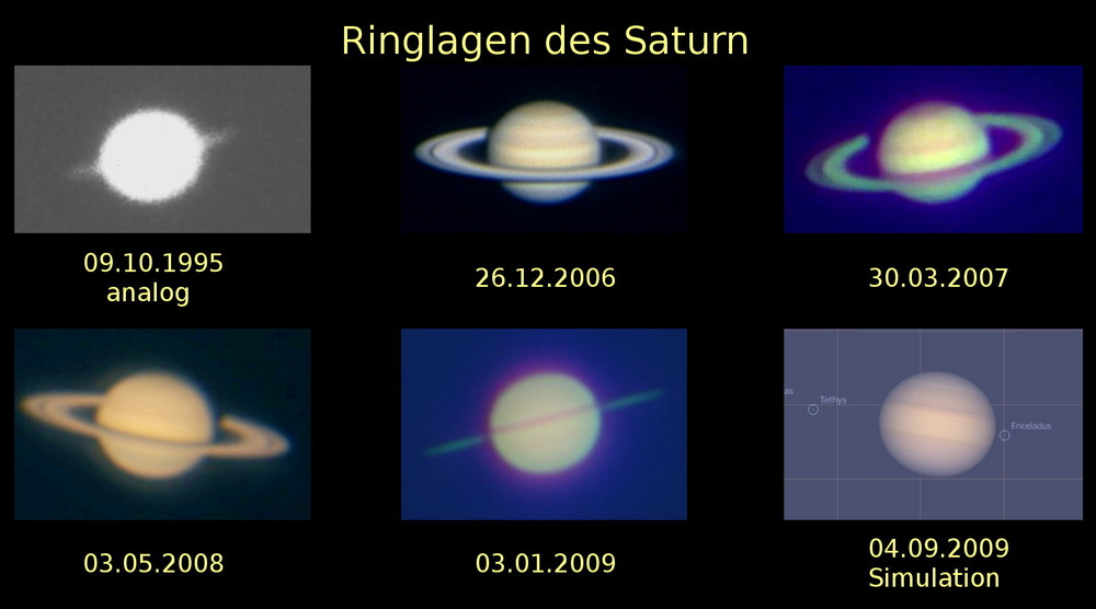 Die verpasste Saturnringpassage 2009