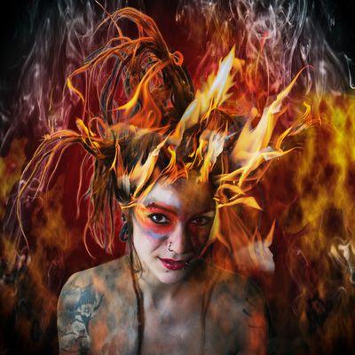 Die vier Elemente -Feuer -