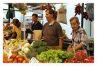 Die Vier vom Gemüsestand