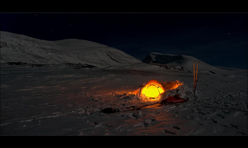 die warme kalte polare Nacht