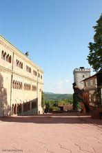 Die Wartburg - Innenhof der Hauptburg