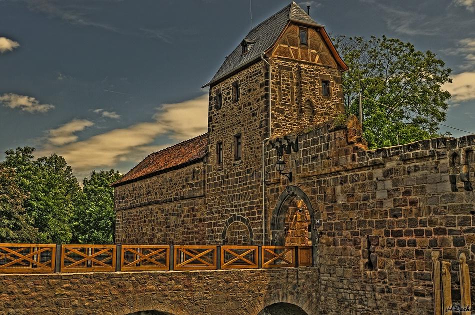 Die Wasserburg in Bad Vilbel.....