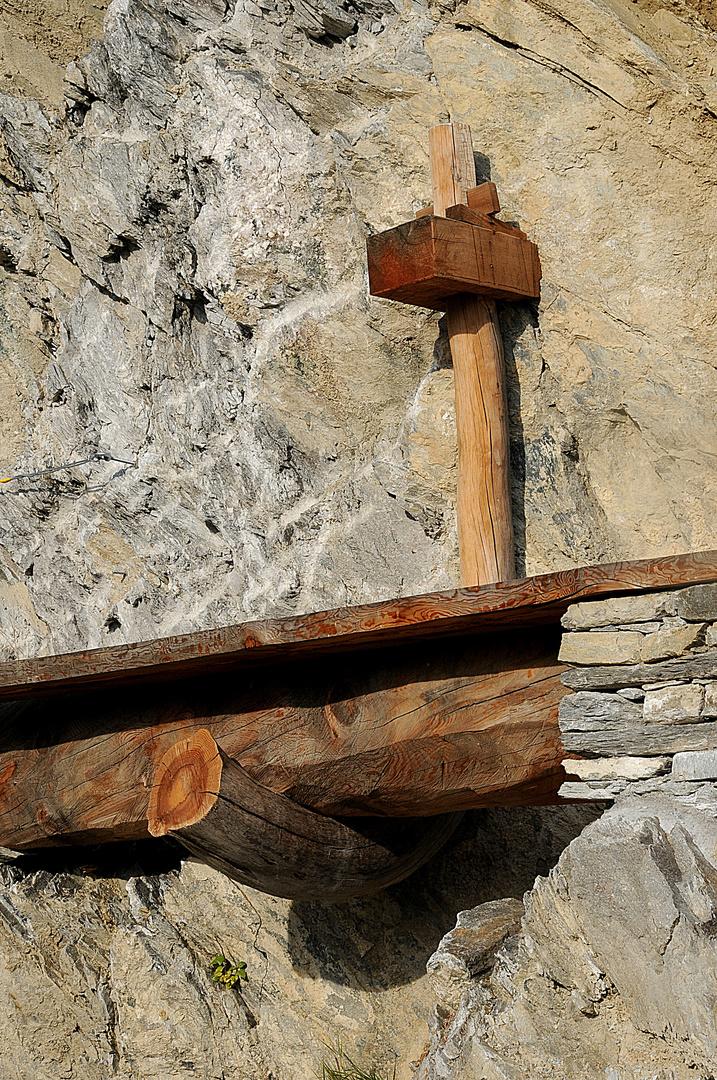 Die Wasserleitung (im Wallis Suonen genannt)