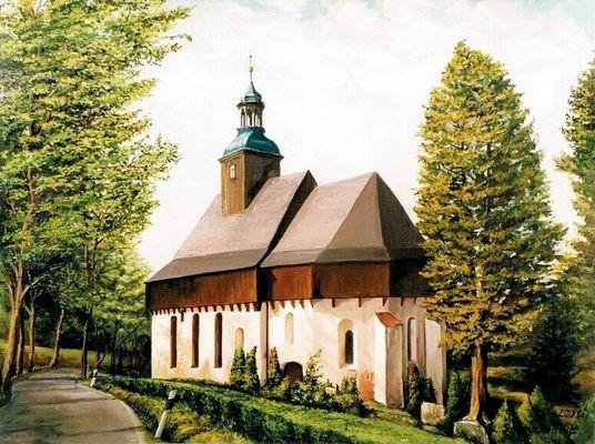 Die Wehrkirche von Lauterbach (2001 / 30 x 40cm)