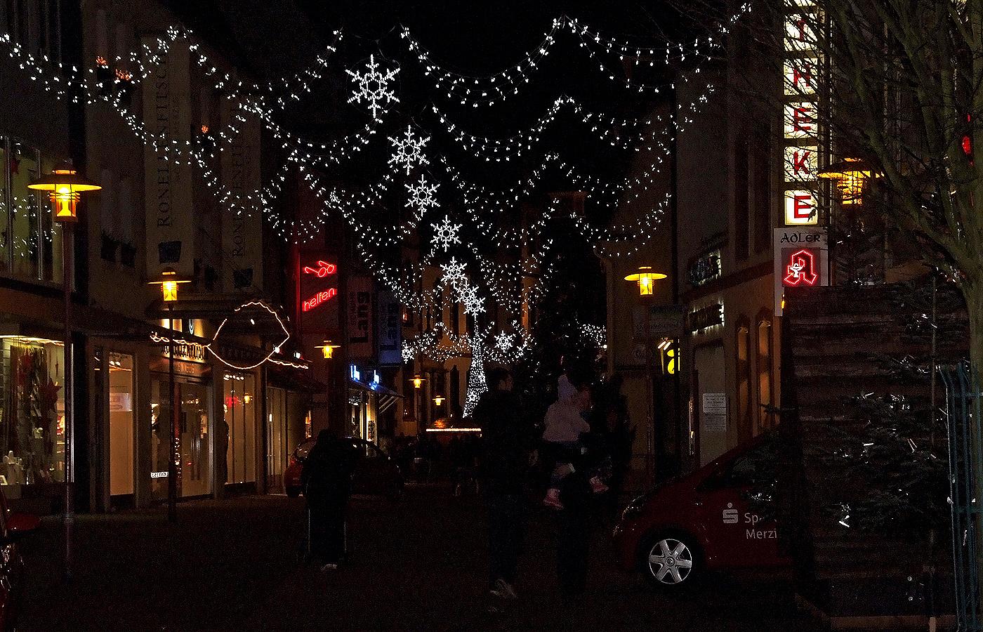 Die Weihnachtsdeko in Merzig ....