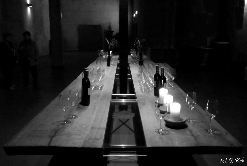 Die Weinverkostung ist vorüber....