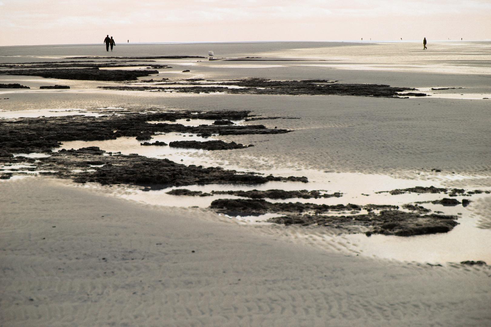 Die Weite des Strandes..