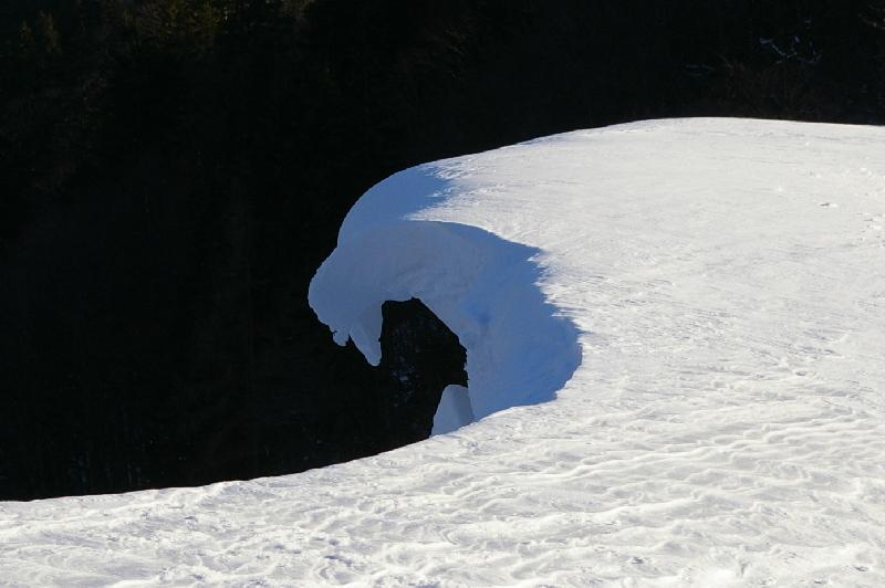 Die Welle im Schnee..