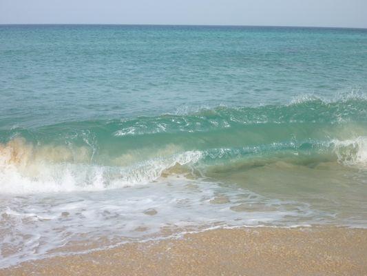 die Welle kurz vorm stranden ;-)