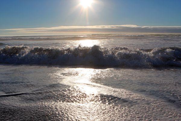 Die Wellen des Pazifiks - sie schlagen hoch