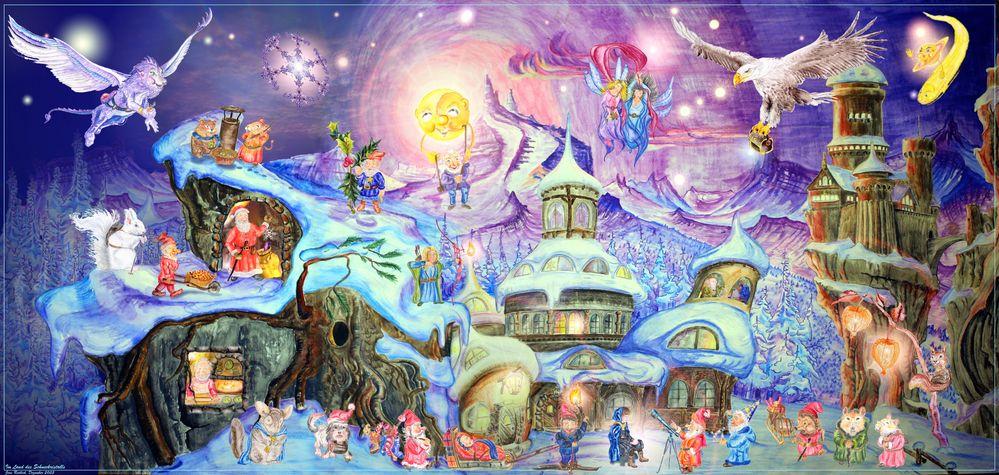 Die Welt des geheimnisvollen Schneekristalls (geöffnete Variante)