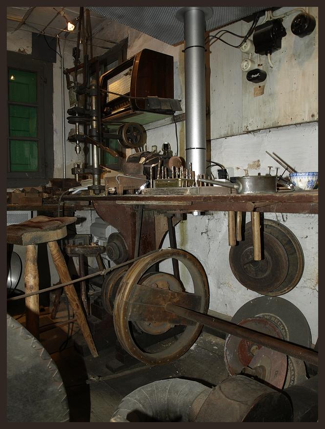 Die Werkstatt eines Taschenmesser-Reider