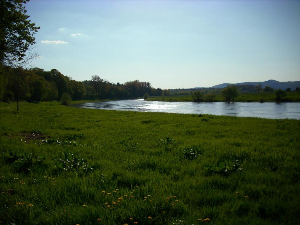 Die Weser bei Reileifzen