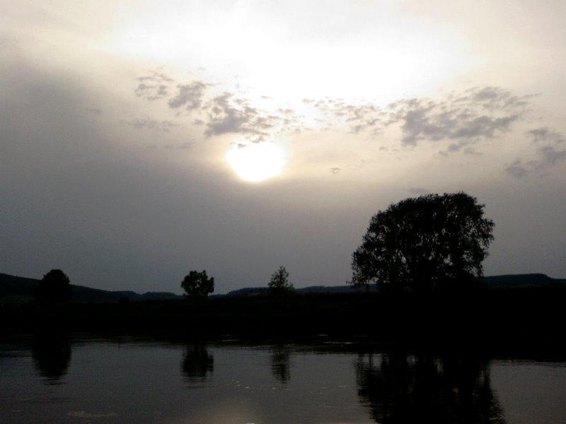 Die Weser in Abendstimmung