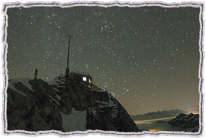 Die Wetterstation am Wendelstein Nachts