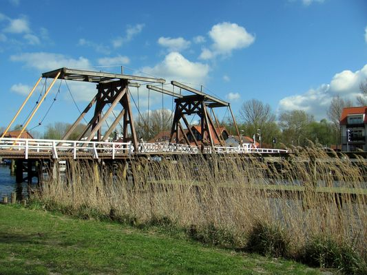 die Wiecker Holzzugbrücke
