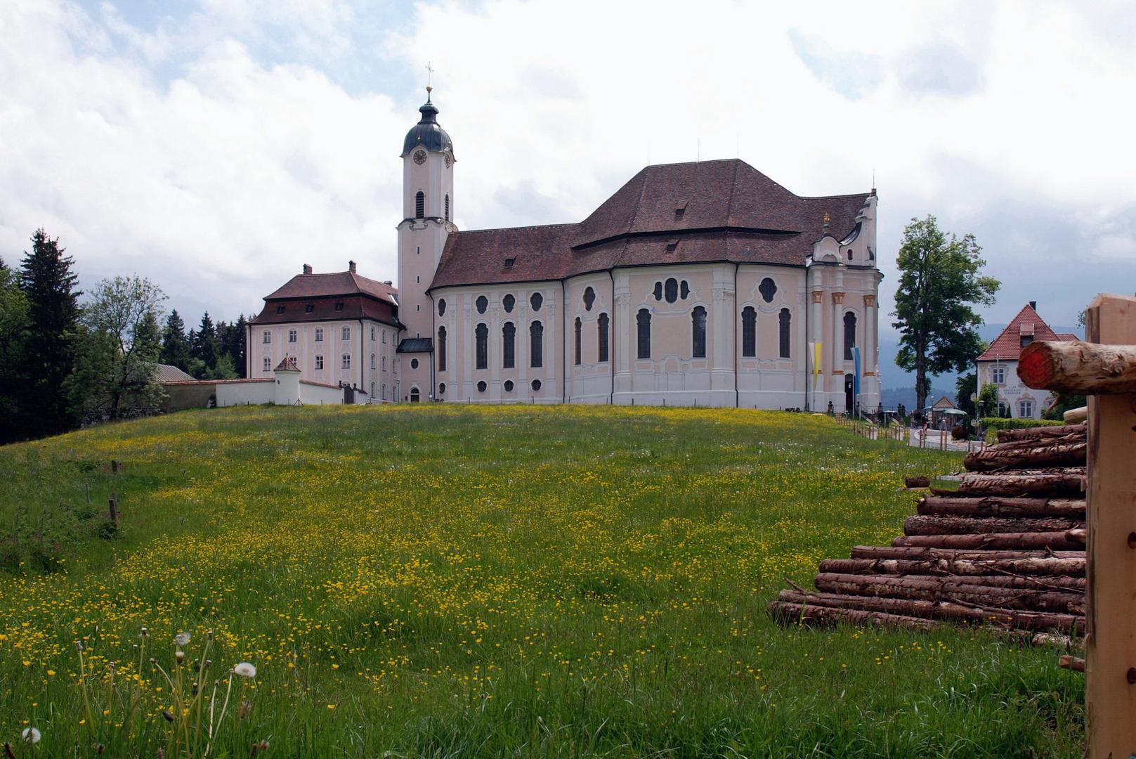 Die Wieskirche (ohne den störenden Draht)
